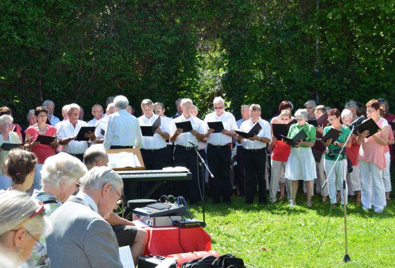 der Gemischte Chor Eintracht Freiburg St. Georgen Bild M. Meier